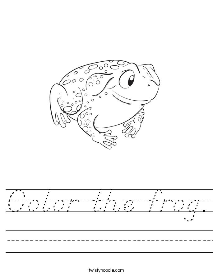 Color the frog. Worksheet