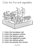 Color the fruit and vegetables Coloring Page