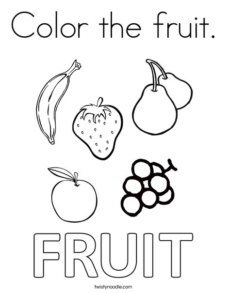 Color the fruit Coloring Page - Twisty Noodle
