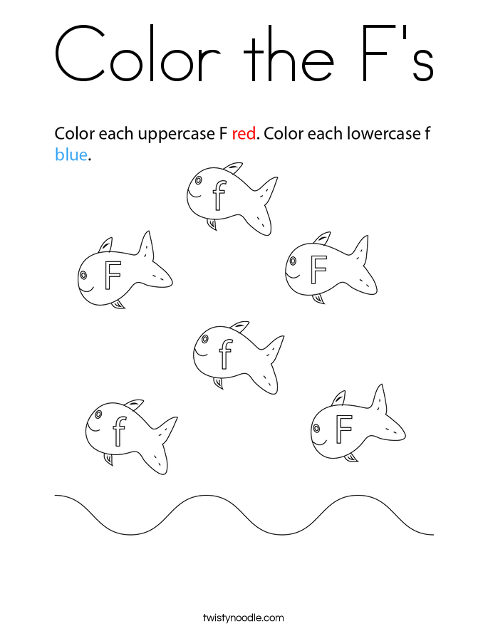Color the F's Coloring Page