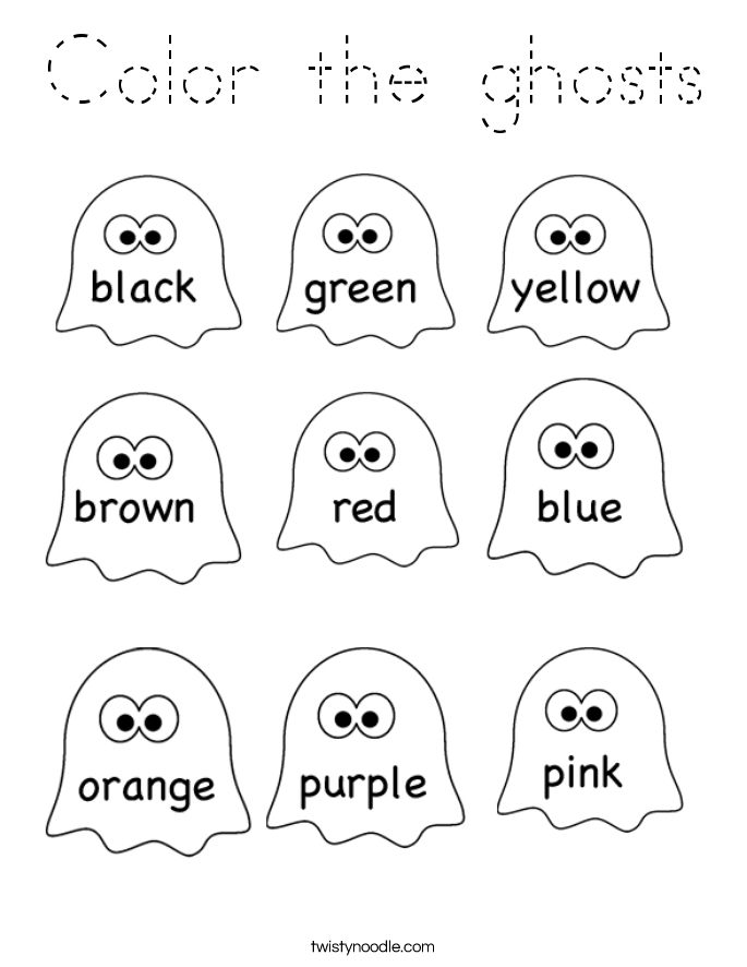 Color the ghosts Coloring Page