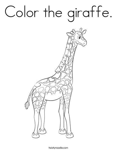 Color The Giraffe Coloring Page - Twisty Noodle