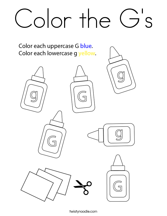 Color the G's Coloring Page