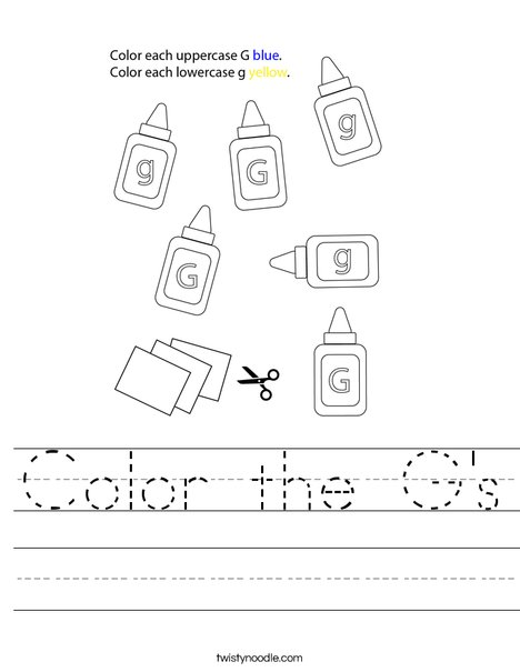 Color the G's Worksheet