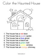 Color the Haunted House Coloring Page