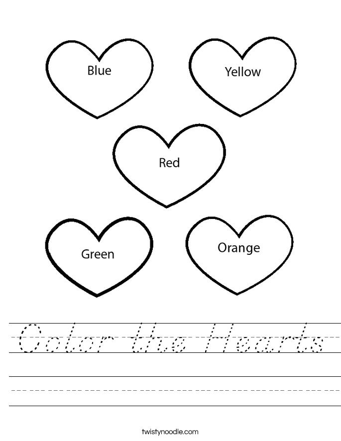 color the hearts worksheet d 39 nealian twisty noodle. Black Bedroom Furniture Sets. Home Design Ideas