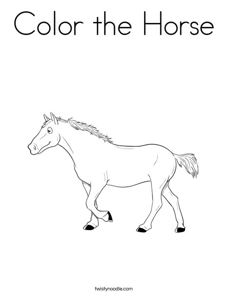 Color the Horse Coloring Page - Twisty Noodle