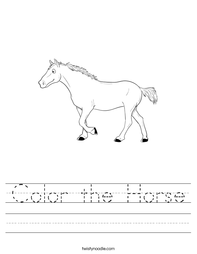 Color the Horse Worksheet