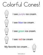 Colorful Cones Coloring Page