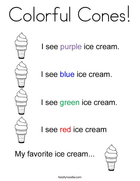 Color the Ice Cream Cones Coloring Page