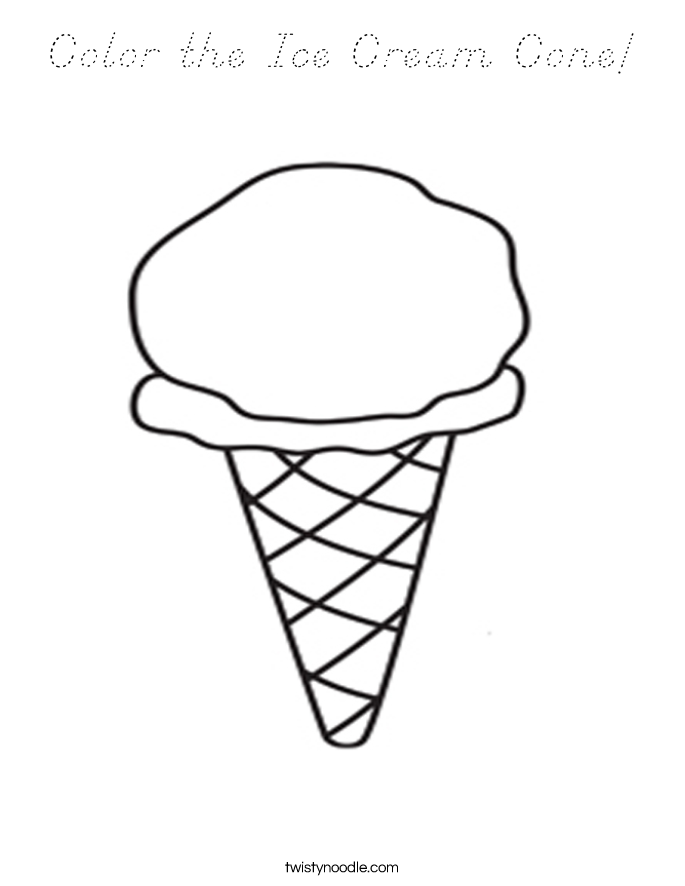 Color the Ice Cream Cone Coloring