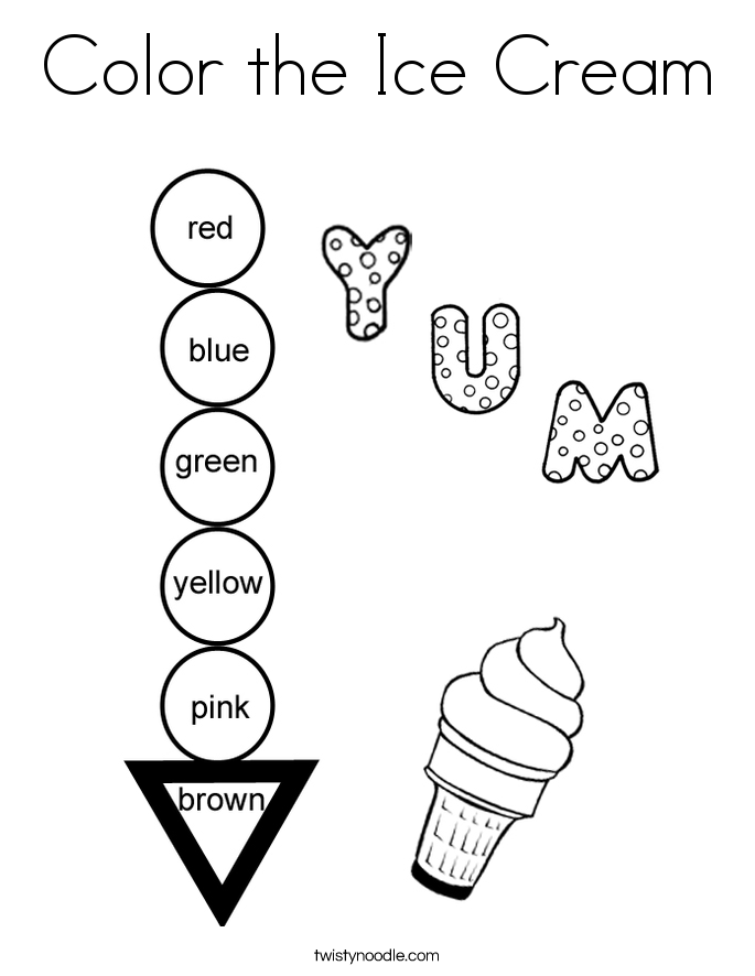 Color the Ice Cream Coloring Page