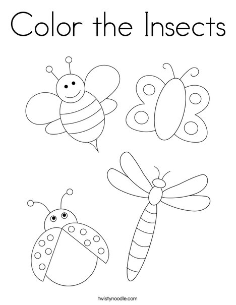 Color the Insects Coloring Page
