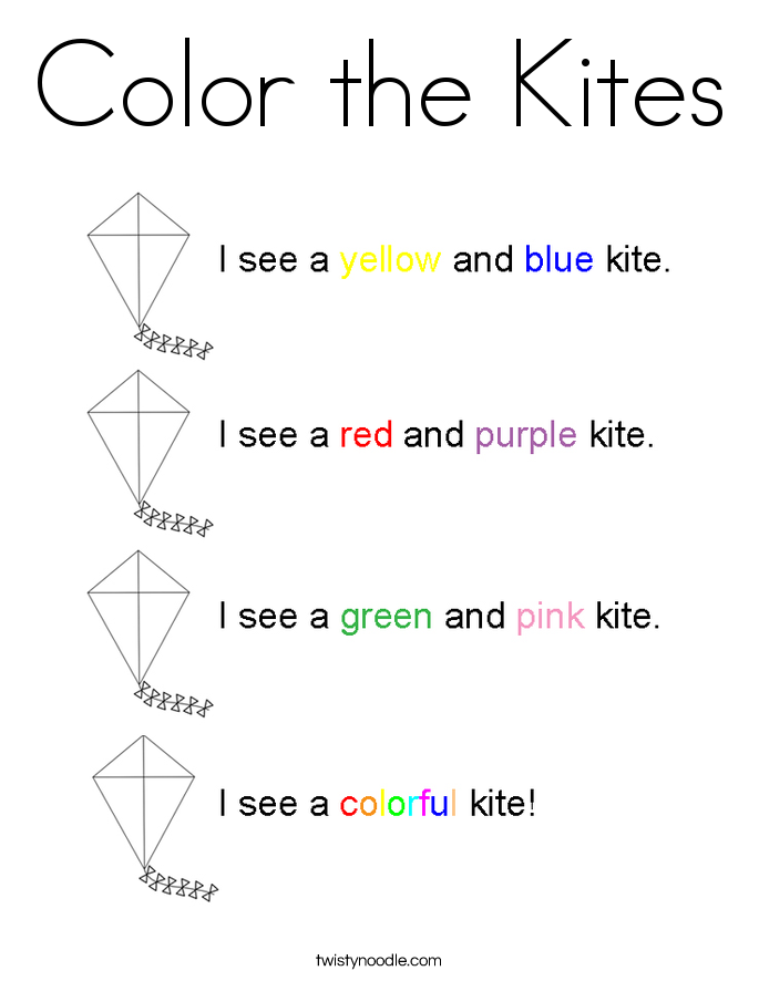 Color the Kites Coloring Page