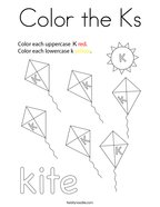 Color the Ks Coloring Page