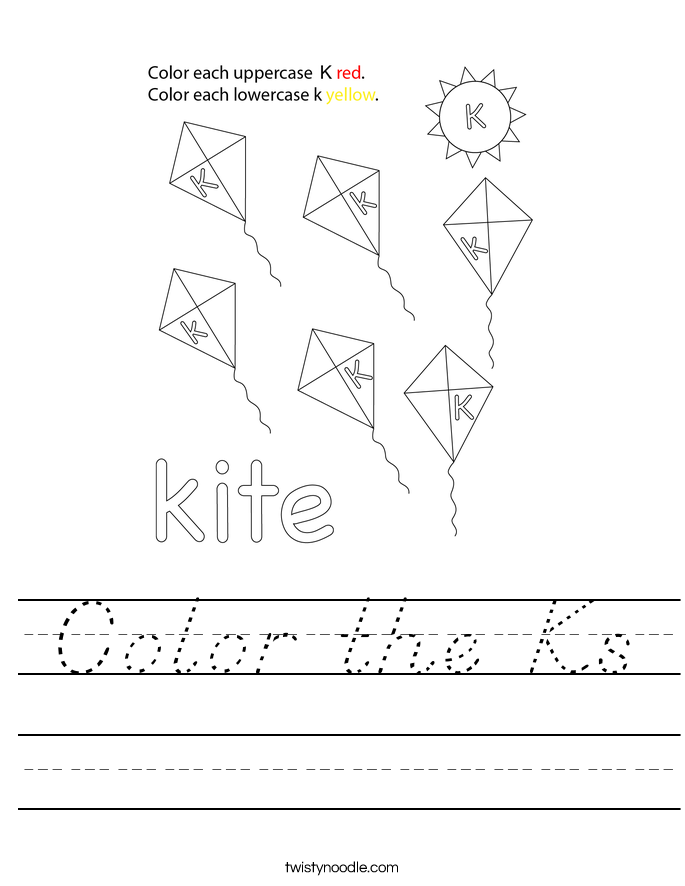Color the Ks Worksheet