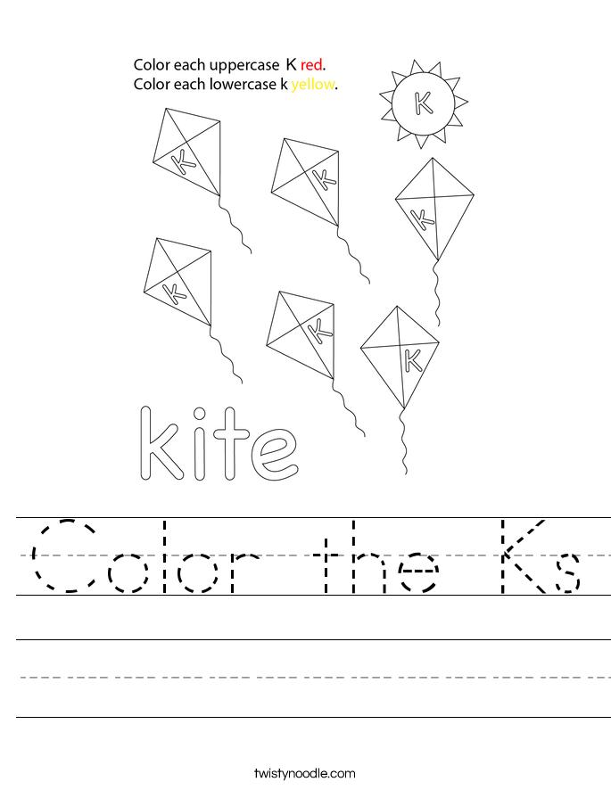 Color the Ks Worksheet