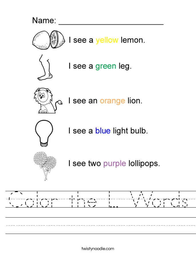 Kindergarten Letter L Writing Practice Worksheet Printable ...