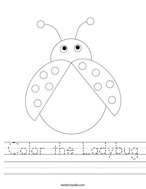 Color the Ladybug Worksheet