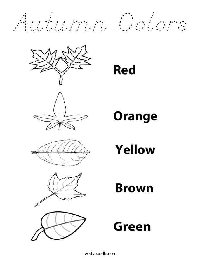 Autumn Colors Coloring Page