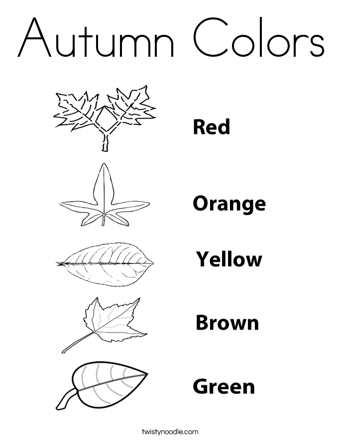 Autumn Colors Coloring Page