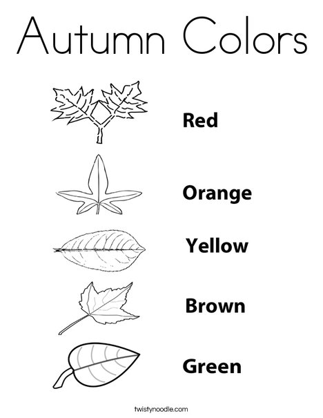 Color the leaves. Coloring Page