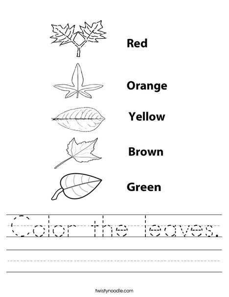 Leaf Worksheet...just to show the different shapes | Science ...