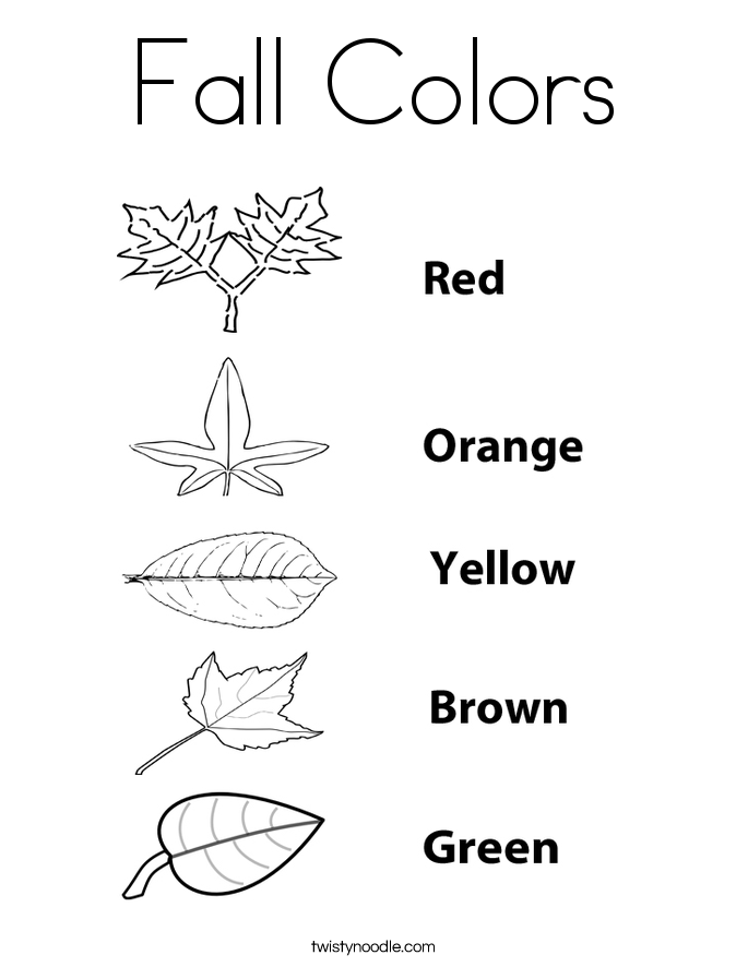 Fall colors coloring page twisty noodle for Coloring pages autumn leaves