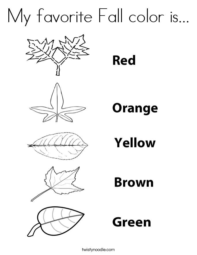 My favorite Fall color is... Coloring Page