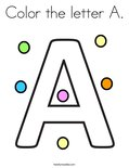 Color the letter A. Coloring Page