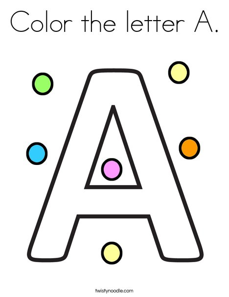 Color the letter A Coloring Page
