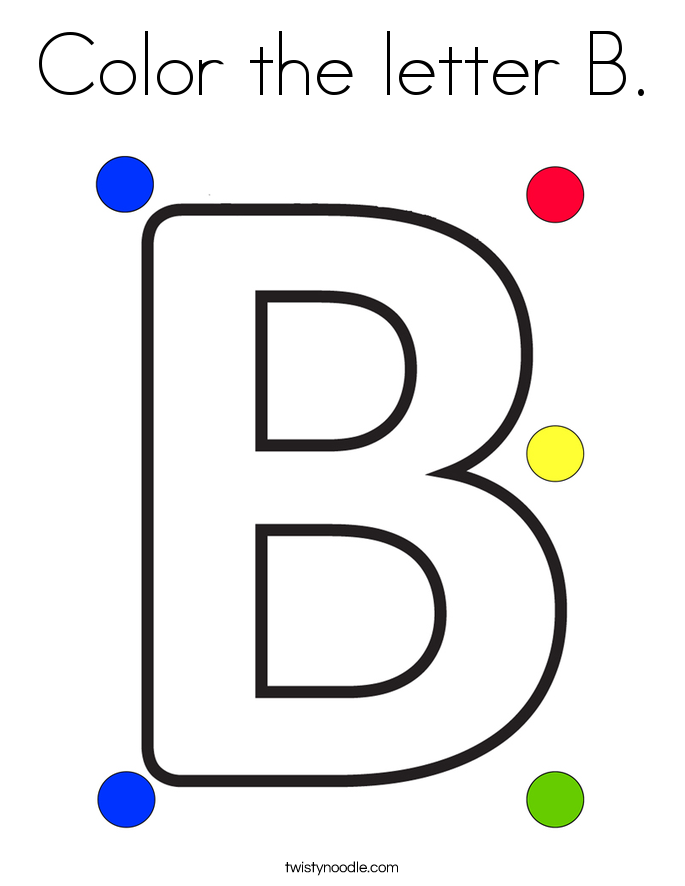 Color the letter B. Coloring Page