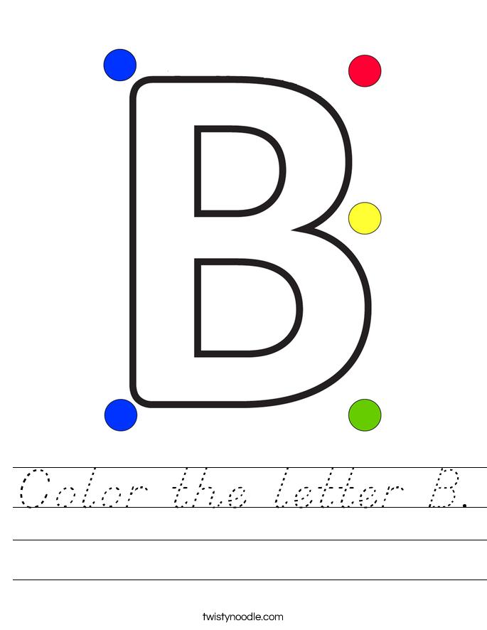 Color the letter B. Worksheet