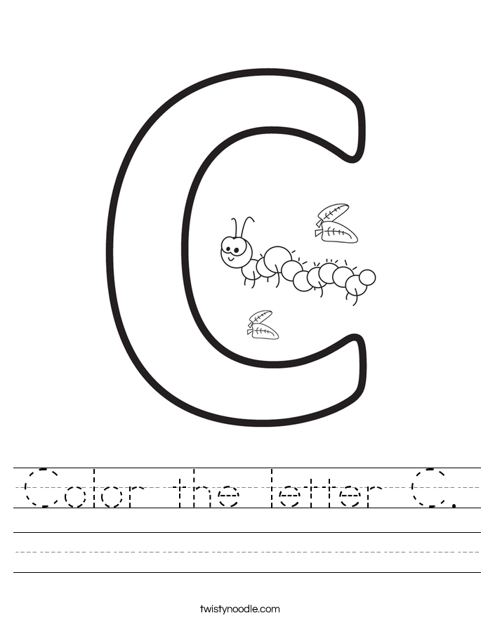 Color the letter C. Worksheet