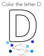 Color the letter D Coloring Page