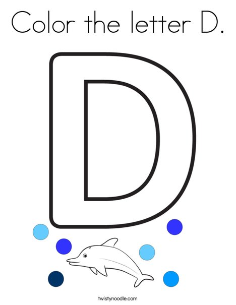 Color the letter D. Coloring Page