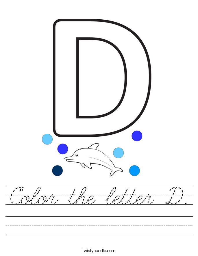 Color the letter D. Worksheet