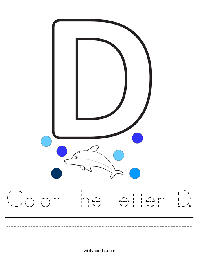Color the letter D. Worksheet