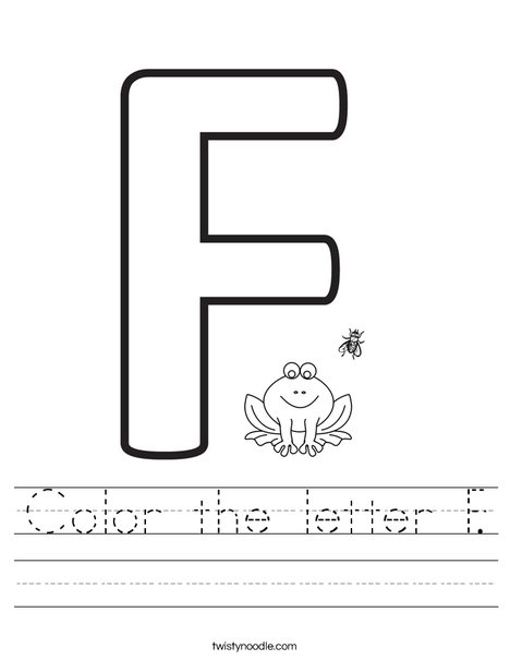 Color the letter F. Worksheet