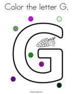 Color The Letter G Coloring Page