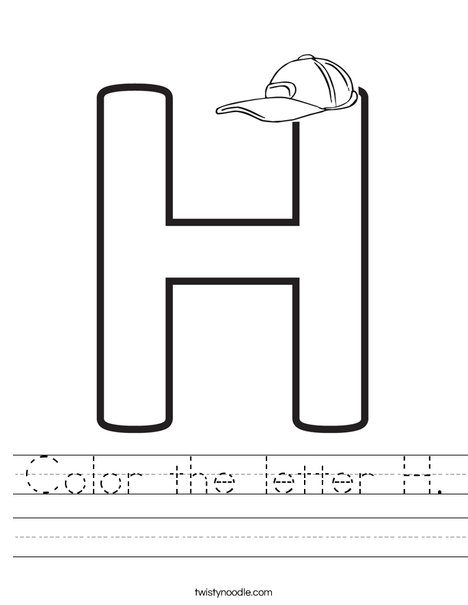 Color the letter H. Worksheet
