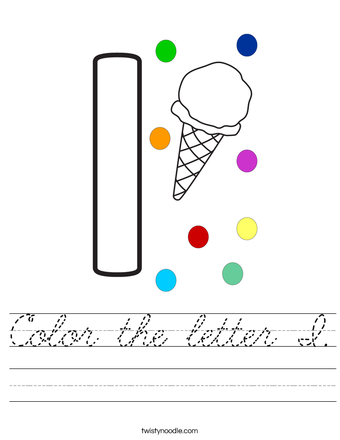 Color the letter I. Worksheet