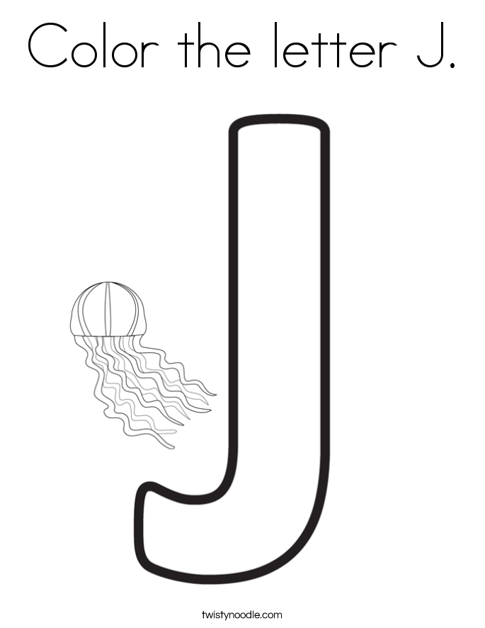 Color the letter J. Coloring Page