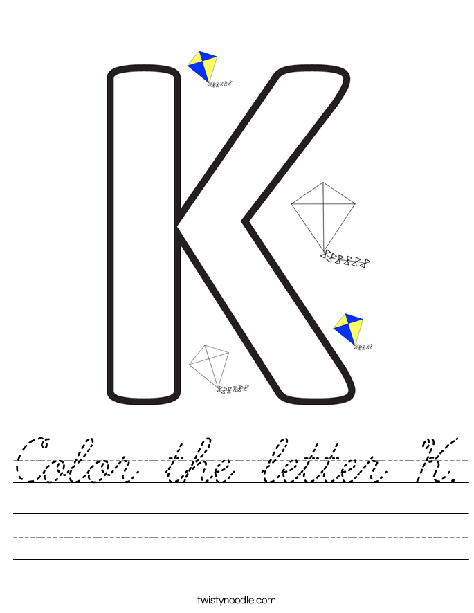 Color the letter K. Worksheet