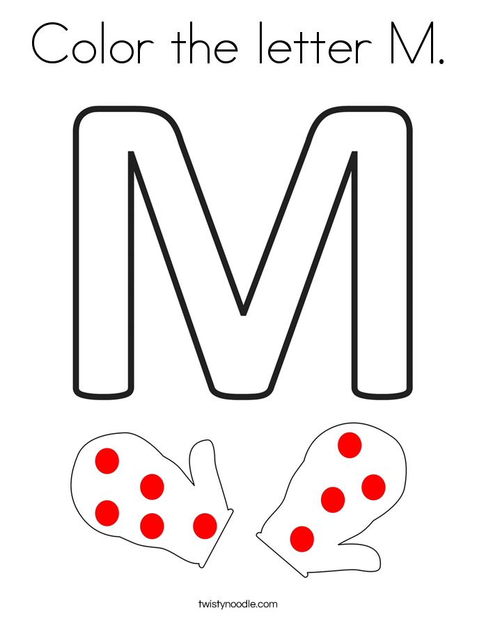 Color the letter M. Coloring Page