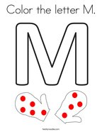 Color the letter M Coloring Page