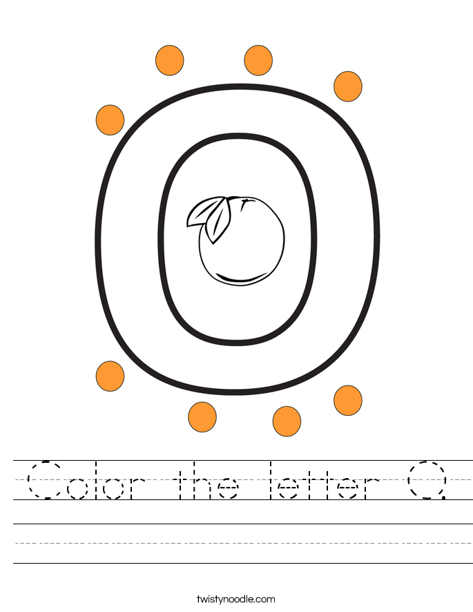 Color the letter O. Worksheet