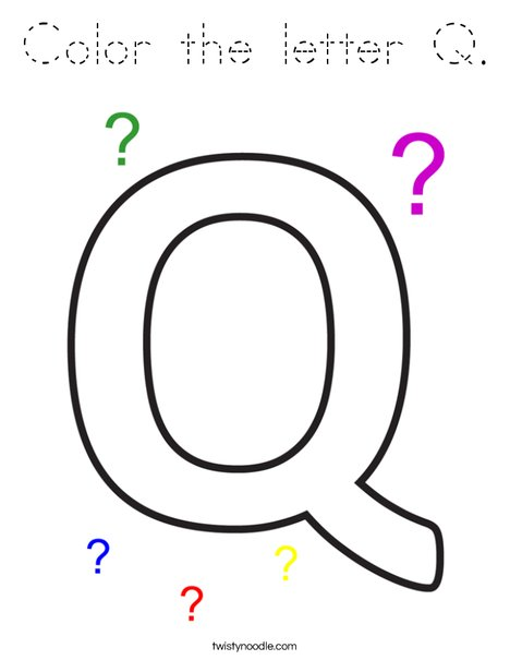 Color the letter Q. Coloring Page