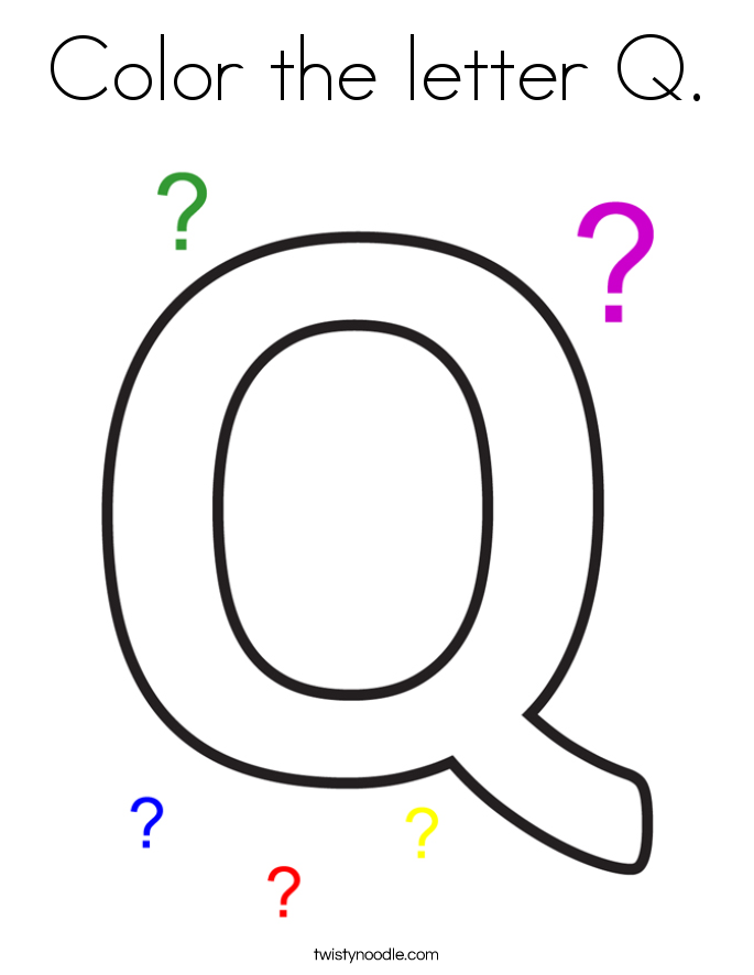 q letter coloring pages - photo #29