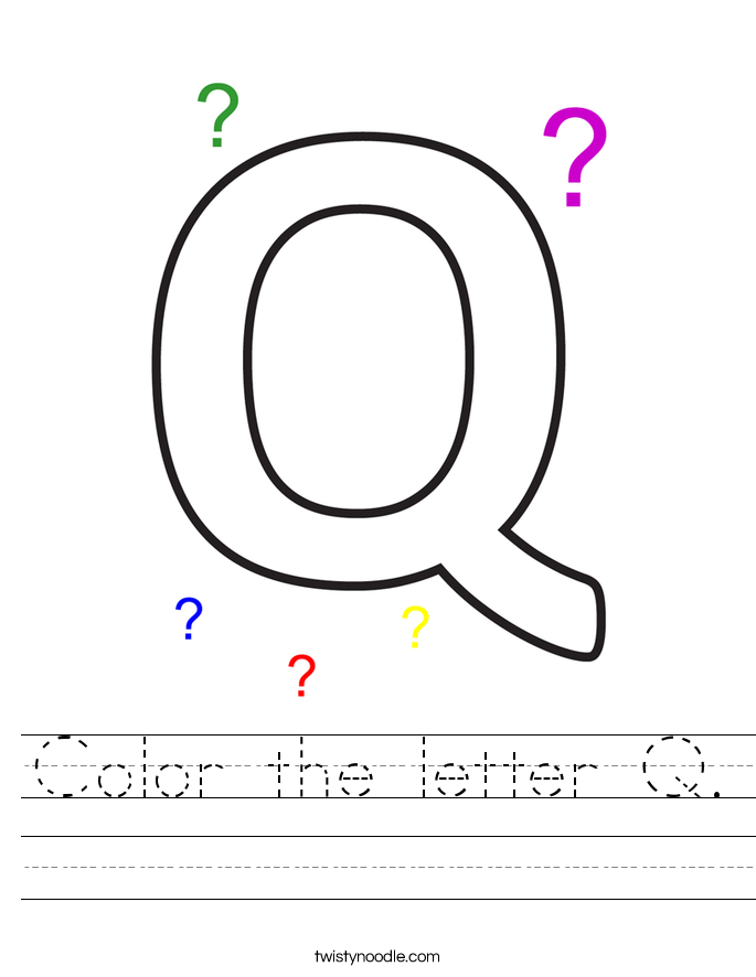 Color the letter Q. Worksheet